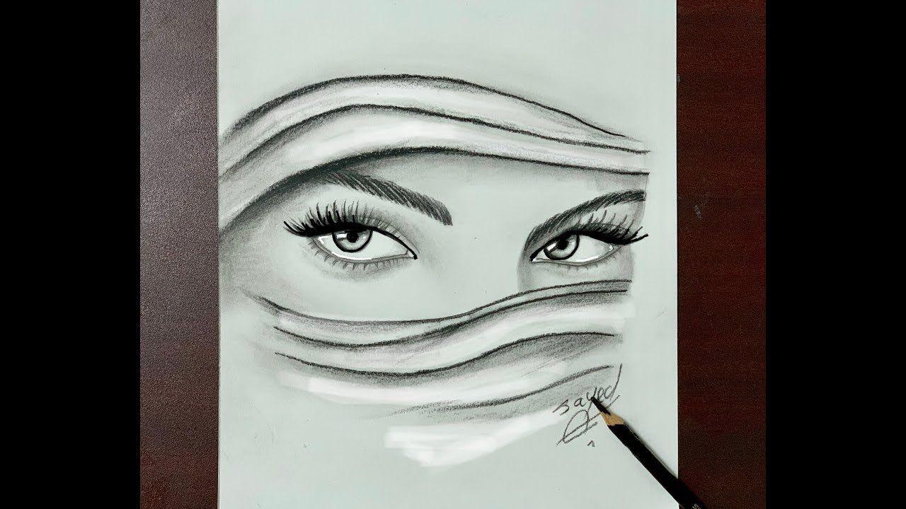 اليوم فيديو رسم تعليمي سريع لرسم وجه فتاة محجبة باستخدام القلم الرصاص وقلم الدمج في التظليل بالرصاص وطريقة رسم الفتاة المحجبة سهل جدا Oil Painting Art Painting