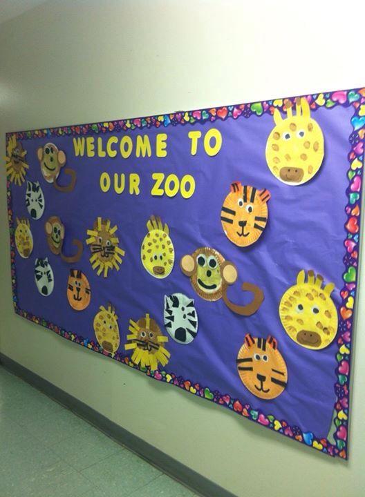 Classroom Zoo Ideas ~ Zoo bulletin board school stuff