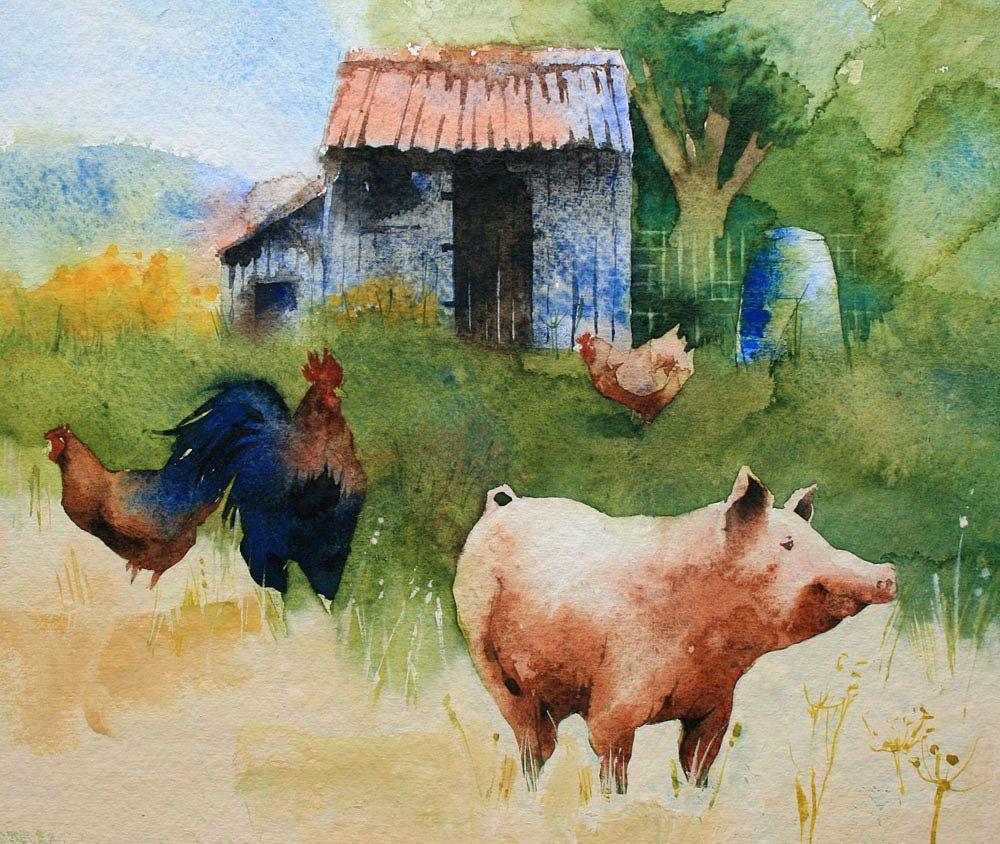 Радикал-Фото: Картинка | Pig art, Farm art, Pig painting