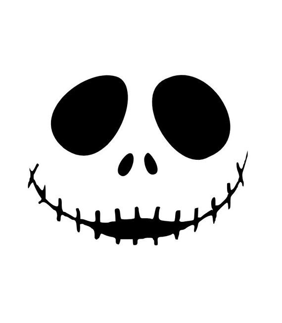 Nightmare Before Christmas Jack Skellington Face For