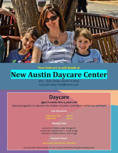 Basic Daycare Flyer Template director Pinterest - daycare flyer template