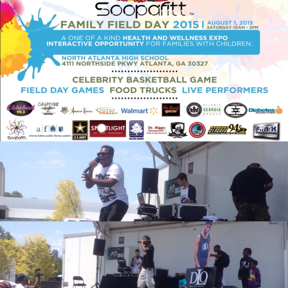 DJ Fonix with rocked the stage with celebrity artists for