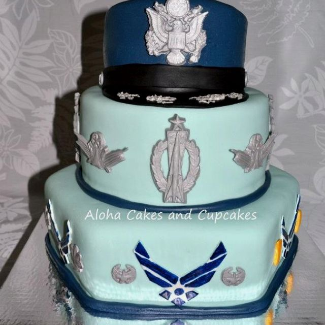 Air Force Wedding Ideas: Air Force Retirement Cake.