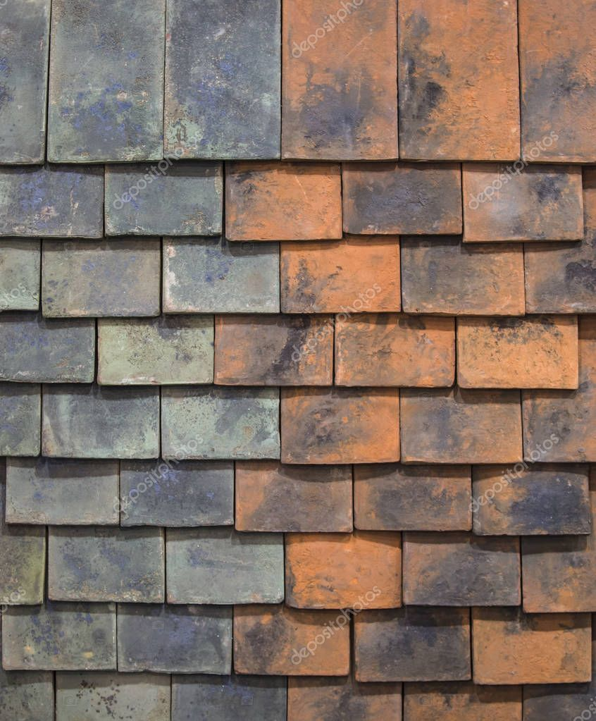 Different kinds of ceramic tiles for the roof in shop