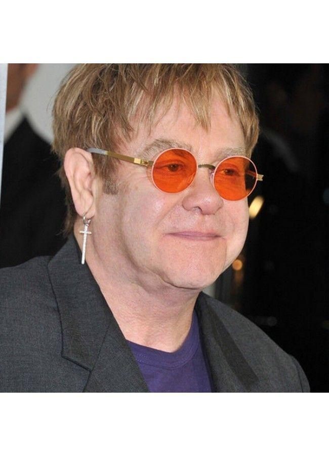 ac10dcf8ba Elton John Style Tinted Lens Round Celebrity Sunglasses in 2019