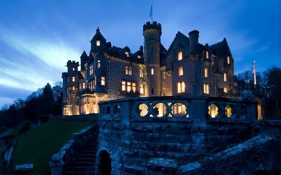 Skibo Castle Hotel, Durnoch, Sutherland, Scotland. This ancient castle has been transformed into a hotel serving private members.