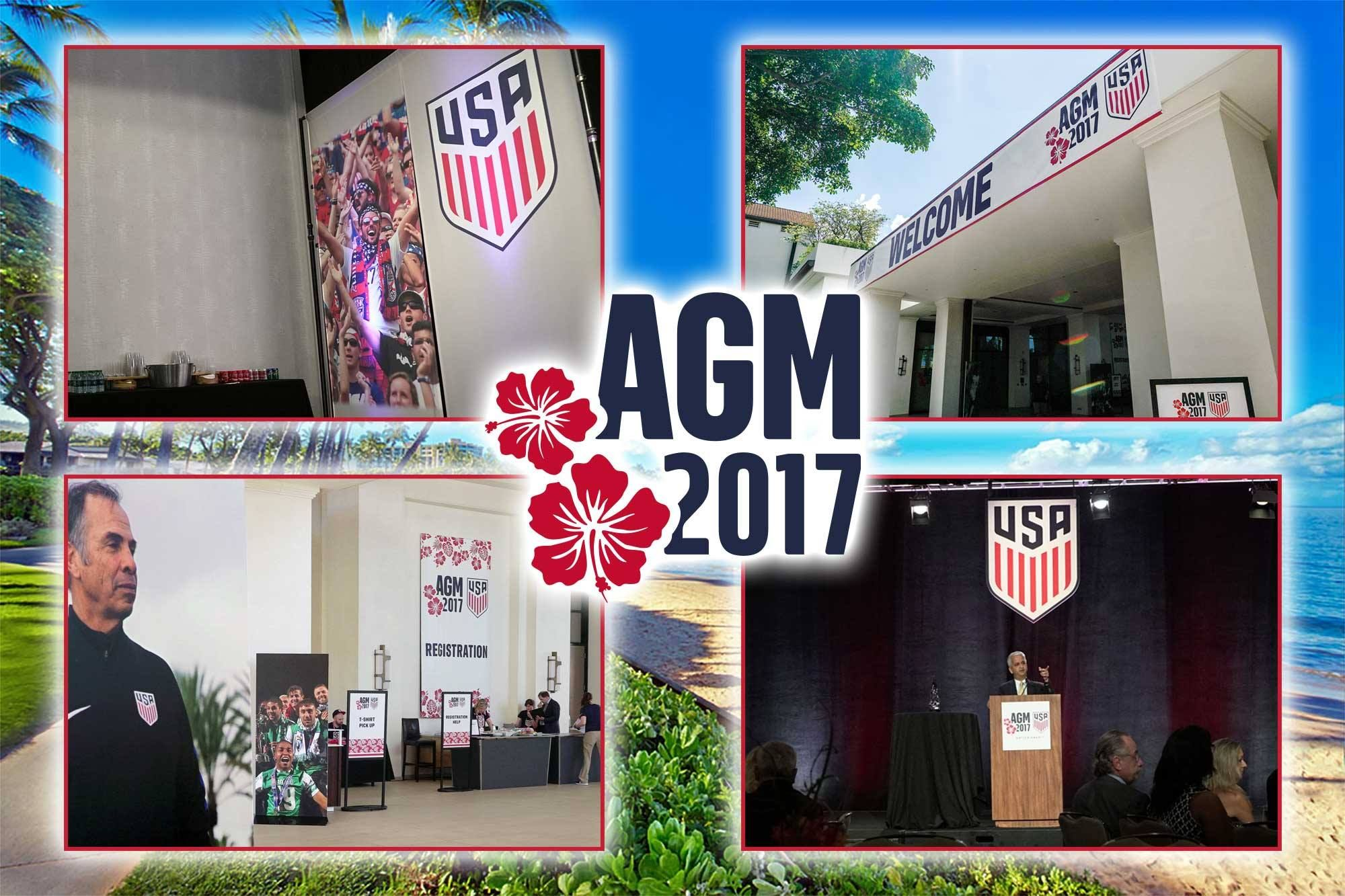 How do you make your event a success? According to Events Manager, you've got to pick the right team! That said, we were thrilled to be the graphics partner for the 2017 U.S. Soccer Annual General Meeting in Wailea, Hawaii.