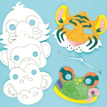 Cardboard Masks To Decorate Buy Rainforest Jungle Animal Color In Craft Masks For Children To