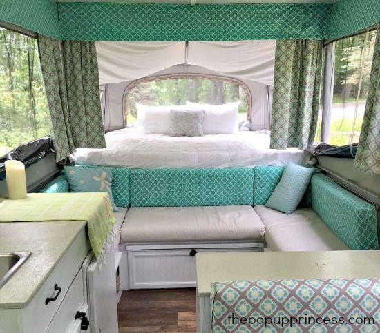 Amy Bell S Pop Up Camper Makeover The Pop Up Princess Camper Interior Design Tent Trailer Remodel Camper Interior