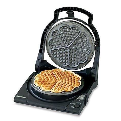 Chef Schoice Wafflepro Five Of Hearts Electric Waffle Maker Bed Bath Beyond Heart Shaped Waffle Maker Waffle Maker Waffle Iron