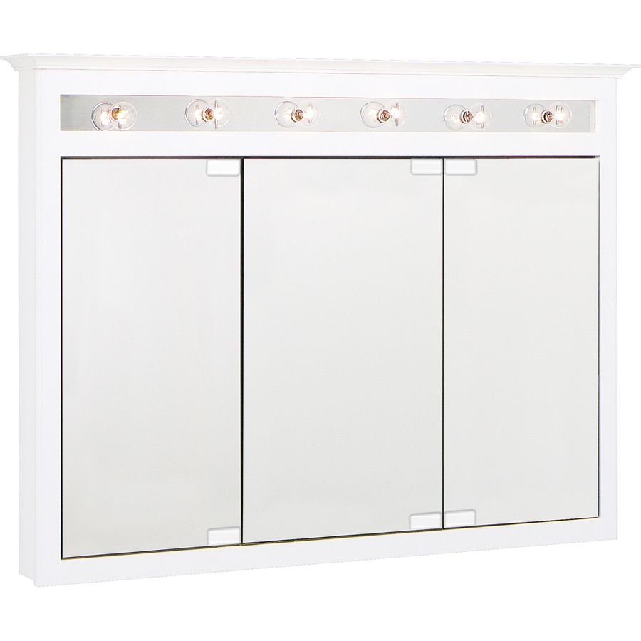Project Source White Lighted Maple Surface Mount Medicine Cabinet At Lowes 198