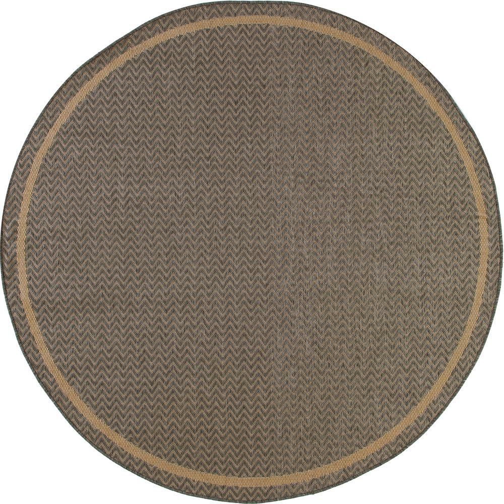 Art Carpet Plymouth Grooveyard Gray 8 Ft X 8 Ft Round Indoor Outdoor Area Rug 29922 Indoor Outdoor Area Rugs