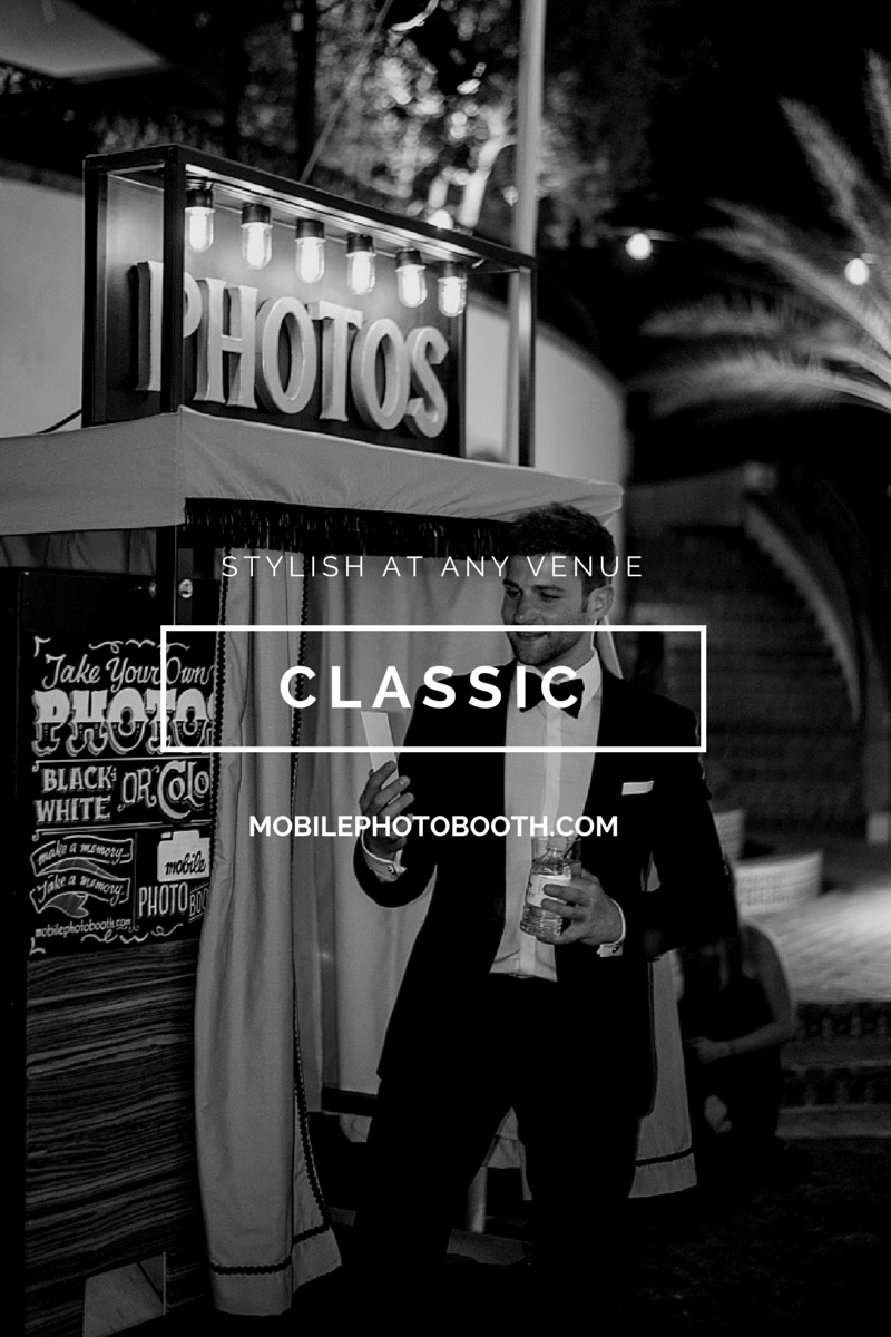 Rent a classic photo booth that looks good in photos of your