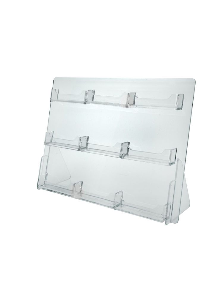 4 Tier Pocket Clear Acrylic Business Card Holders Multi Slot Display Stand