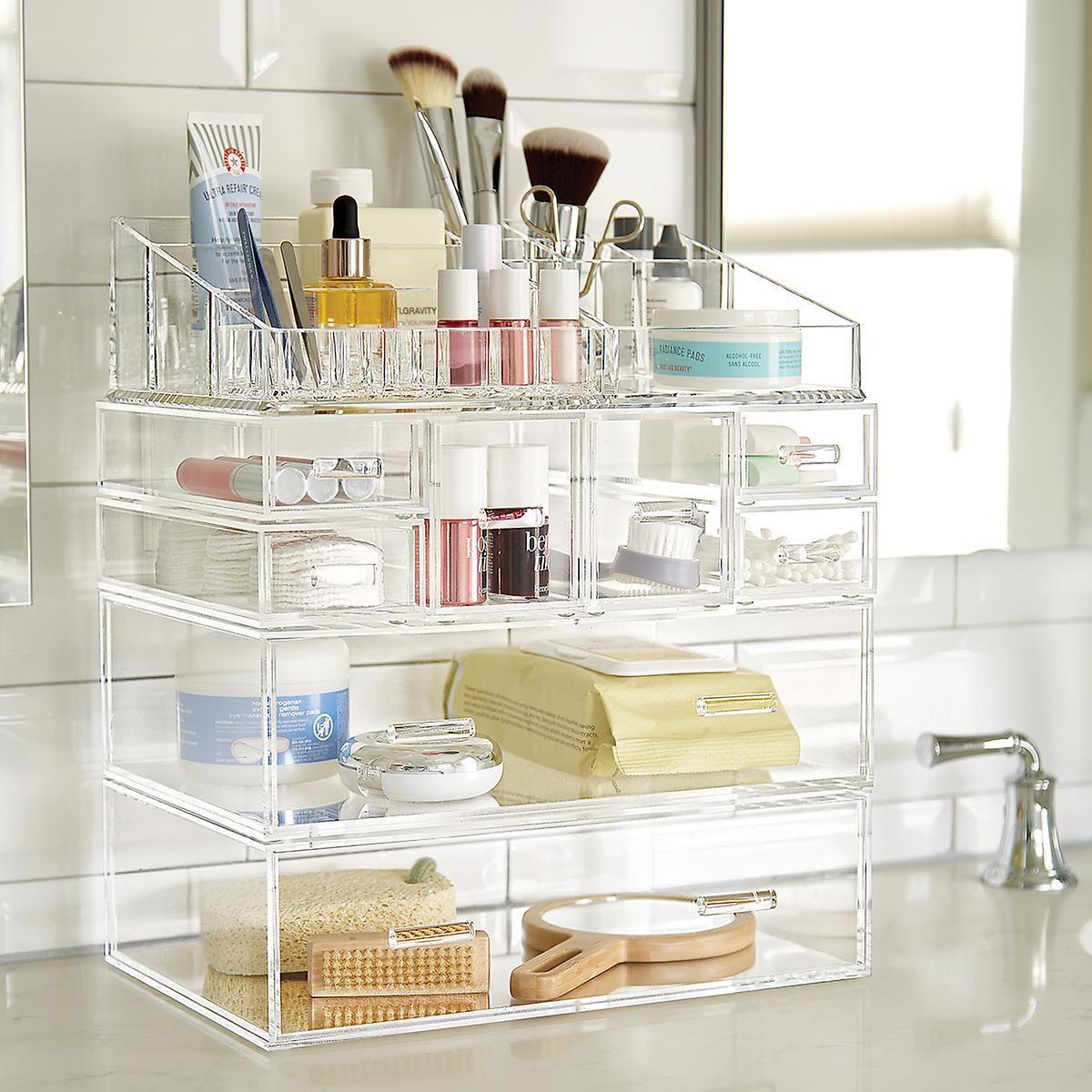 Luxe Acrylic Modular Makeup System Acrylic Organizer Makeup Large Acrylic Makeup Organizer Makeup Organization Vanity