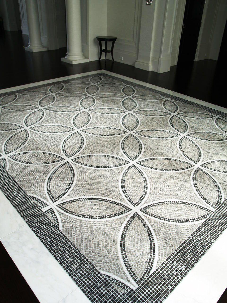 Custom Marble Mosaic Carpet Mosaique Dessin