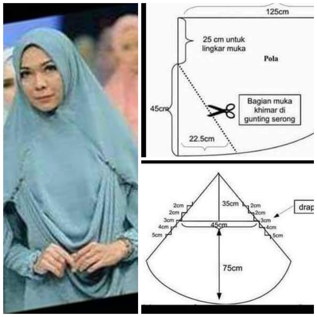 Draperi Hijab Sewing Project Pinterest Fashion Niqab Jilbab Bergo Rempel Licra
