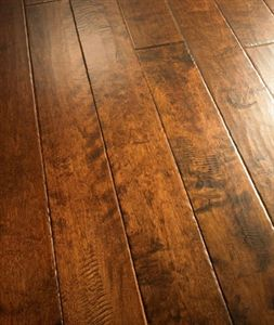 Show Details For Palmetto Road River Ridge Collection Birch Chattooga 5 Dark Brown Hardwood With Red Tint Handsed Wide Plank