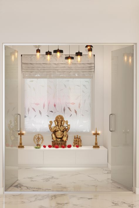 Pooja Room Designs for that Divine Corner at Home | Ceiling lights ...