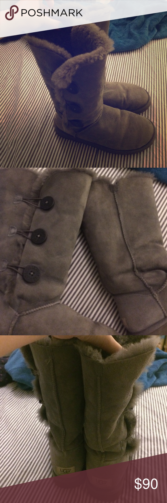 Gray tall UGH boots In great condition. No water marks and no scuffs or wear on heel. Had them for a while but barely worn them. Says US 9, EU 40 on inside tag. UGG Shoes