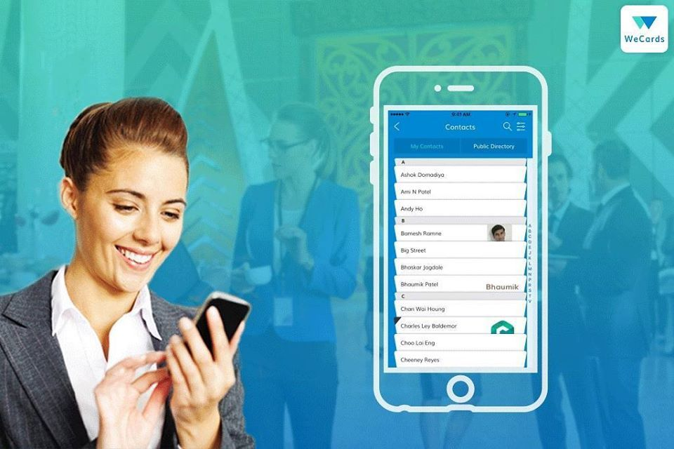 Wecards A New And Convenient Way To Exchange And Store Business Cards Say Goodbye To Tedious Data E Digital Business Card Business Card App Digital Business