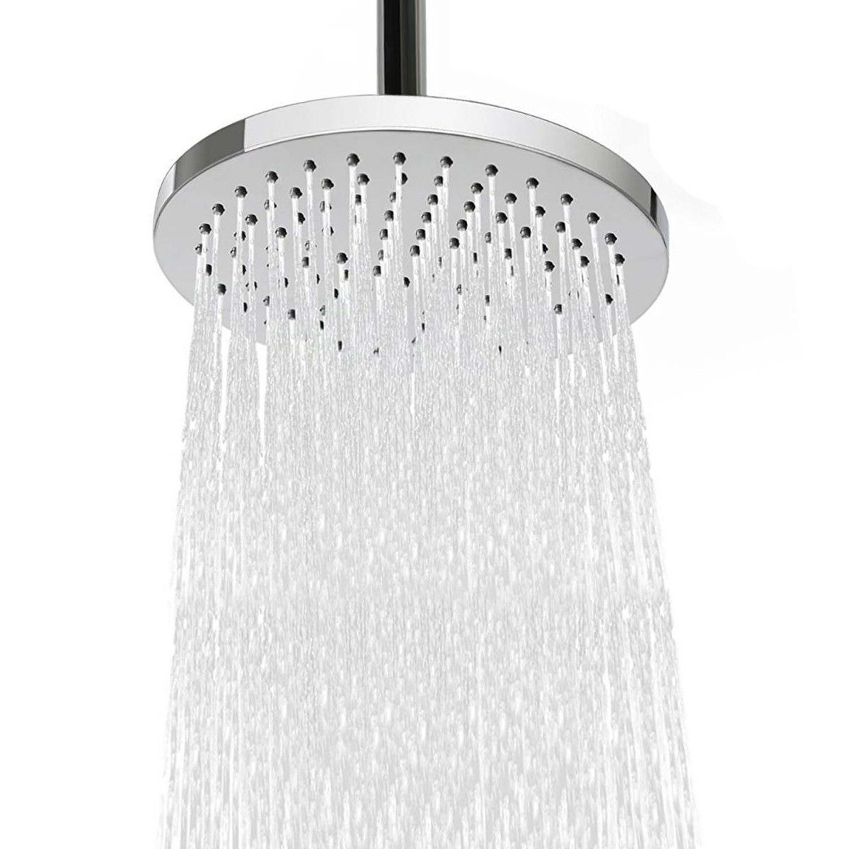 Aquaplumb Shower Sensations 8 Round Rain 90 Jet Shower Head With 13 5 Extension Arm Discontinued No Longer Available Shower Heads Curtains With Rings Shower Faucets