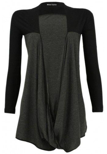 7baef88205 Jersey Cardigan in Dark Gray & Black by Monday to Sunday | Will Work ...