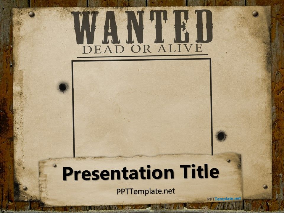 Free Wanted Template For Powerpoint  Ideas For The House