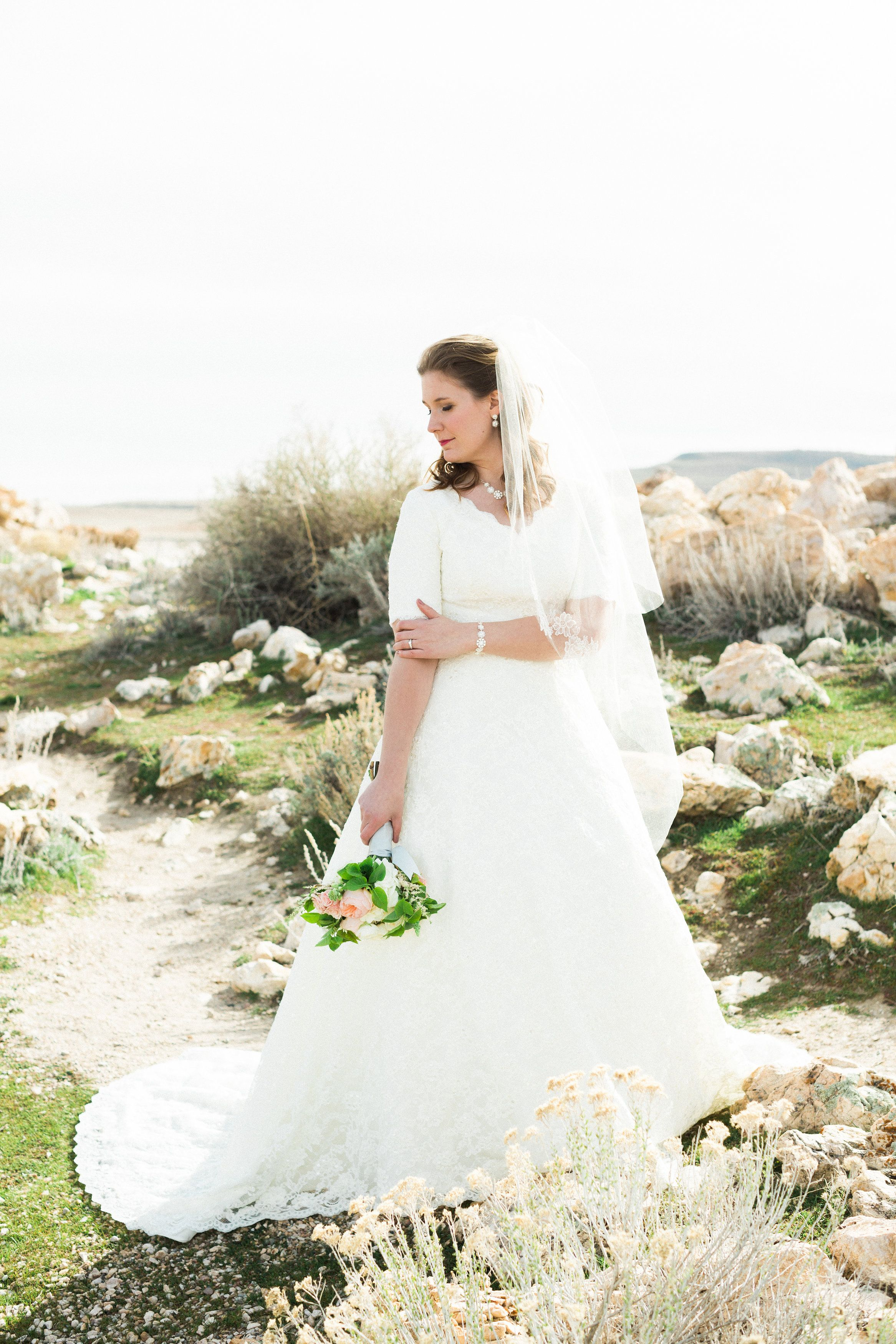 Priscilla of boston wedding dresses  Modest wedding dress by Alta Moda Bridal photo Brittni Willie