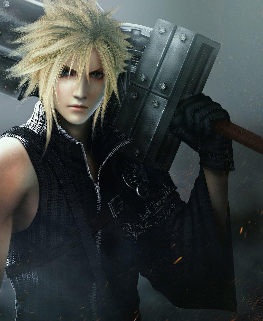 Final Fantasy Cloud Strife Wallpaper: Cloud By Thanomluk By Thanomluk.deviantart.com On