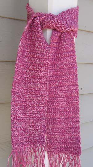 SIMPLE CROCHETED SCARF FOR TEENS | Crochet Scarves | Pinterest ...