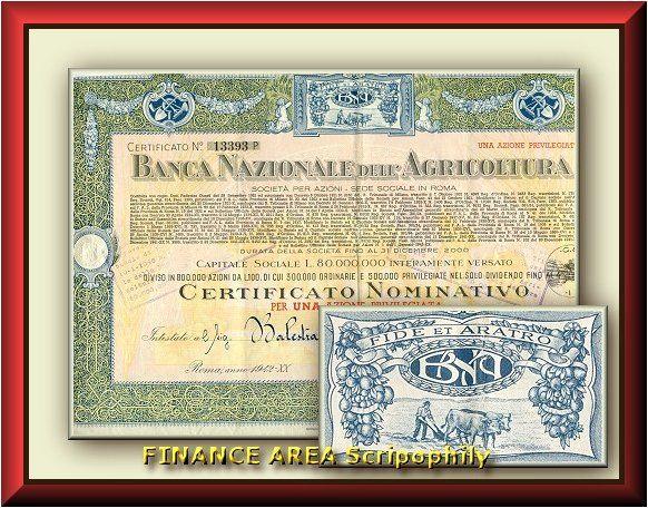BANCA NAZIONALE DELL'AGRICOLTURA