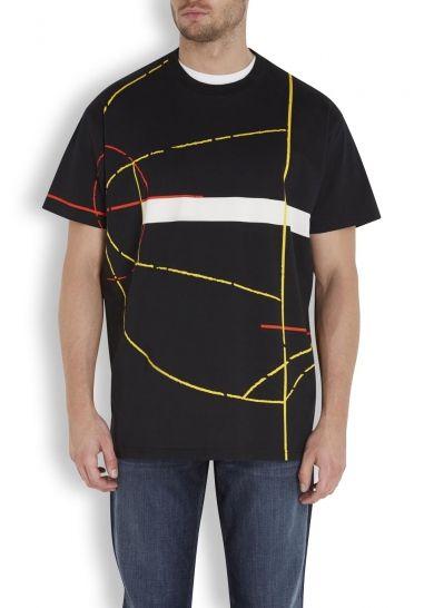 8d2715c0d Black printed cotton T-shirt - Sale £294.00 (40% off)   Givenchy ...