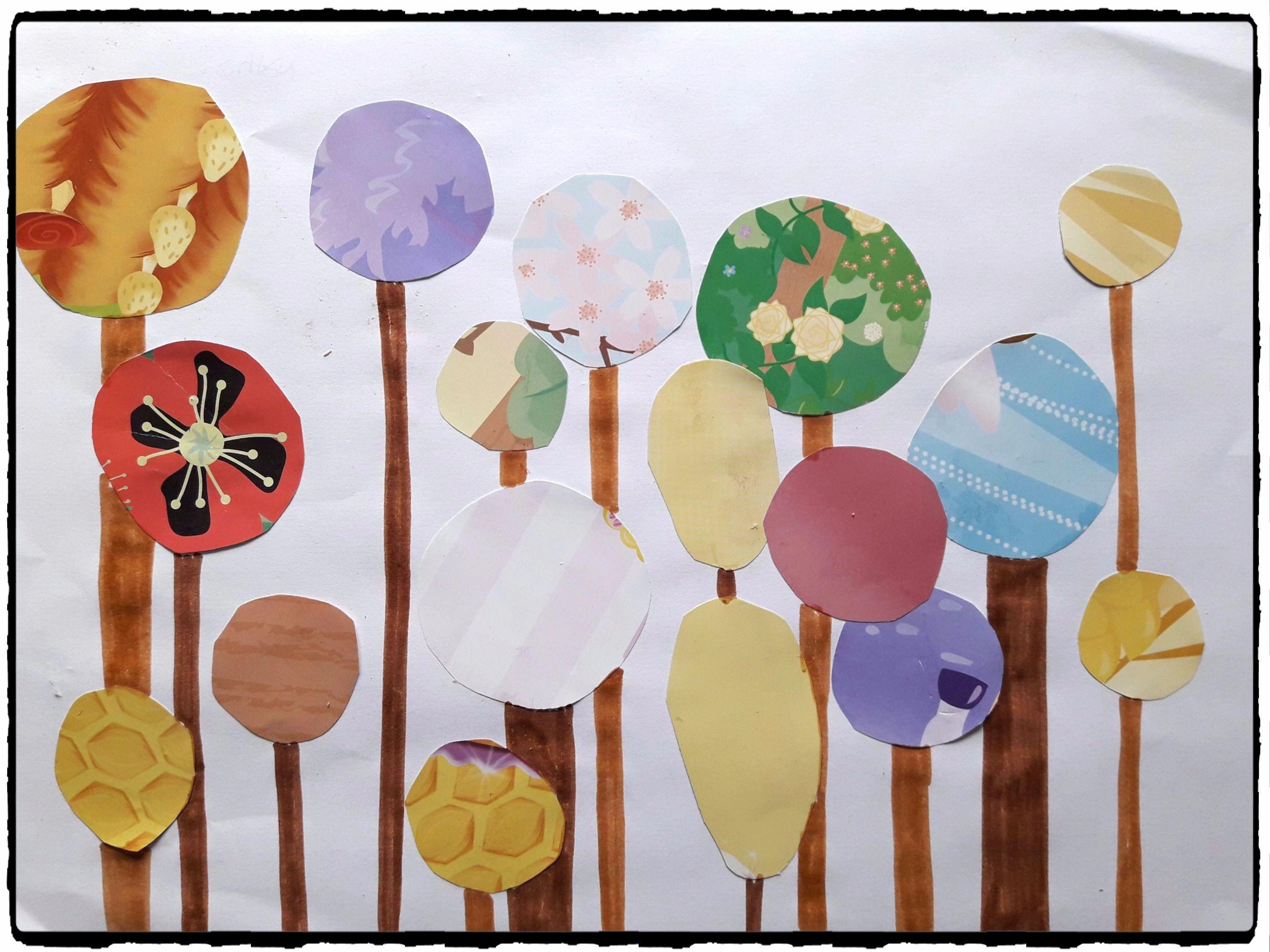 bricolage arbre automne great sur du papier cartonn blanc et pais dcoupez des feuilles duarbre. Black Bedroom Furniture Sets. Home Design Ideas