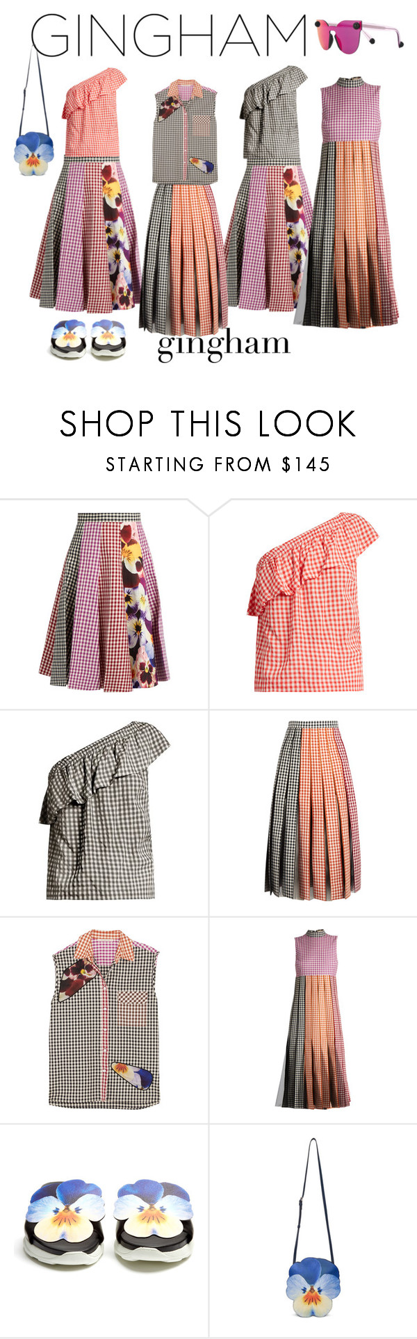 """""""Gingham Sets"""" by geonell ❤ liked on Polyvore featuring Christopher Kane, Velvet by Graham & Spencer, Spring, SpringStyle, gingham, springflorals and Spring2017"""