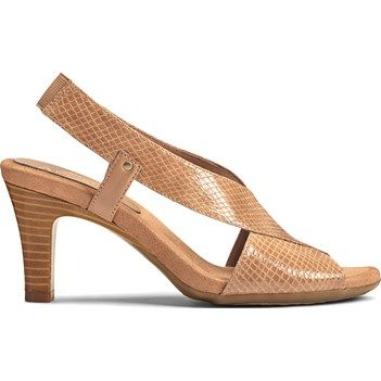 by Aerosoles Women's Rotmail Dress Sandals (Dark Tan Snake)