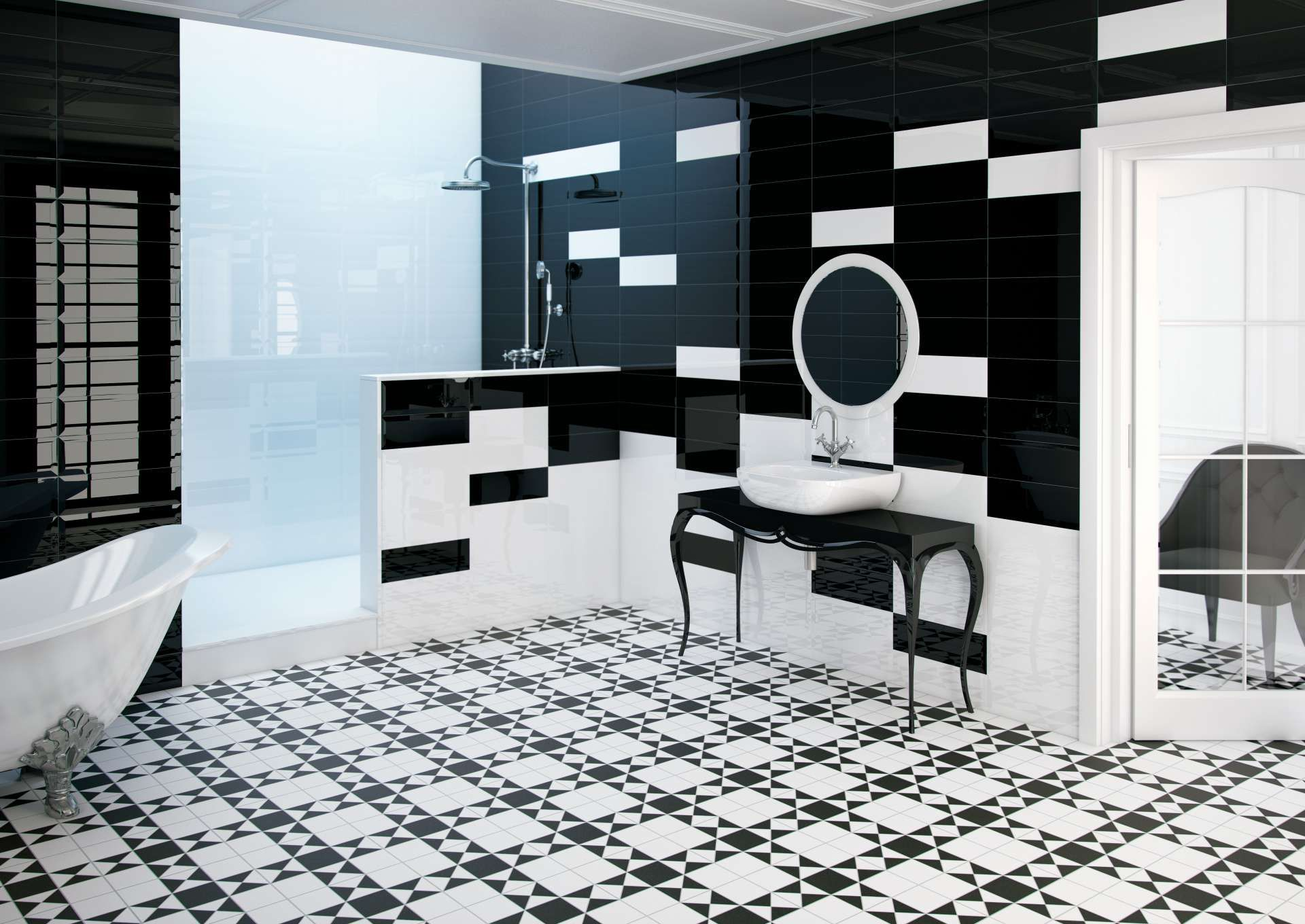 Glazed Porcelain Victorian Style Floor Tiles In 4 Colour Combinations A R9 Anti Slip Matt Finish Trend Setting And Versatile Tile Collection For