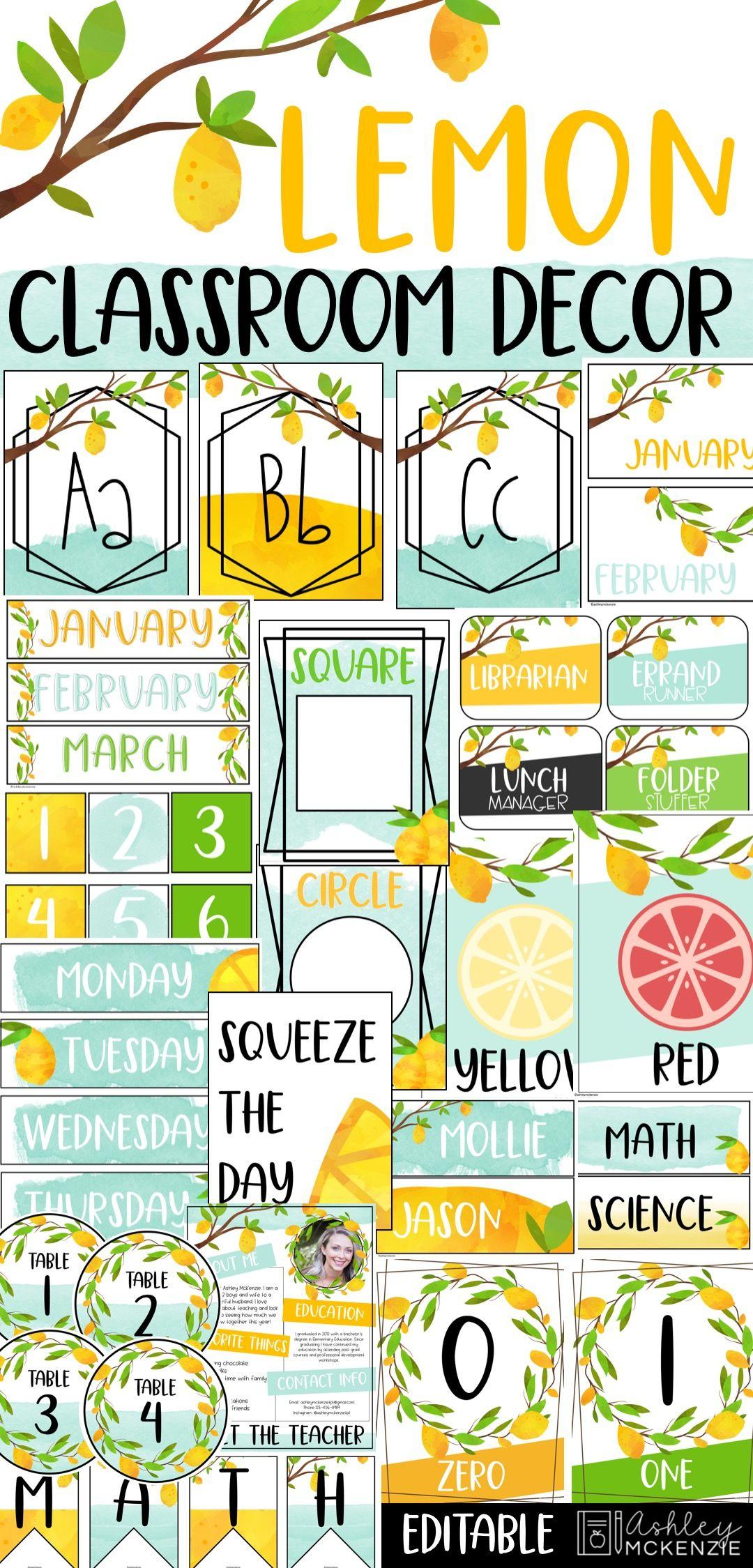 Lemon Classroom Decor #classroomdecor