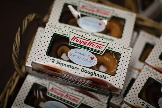krispy kreme as wedding favors | krispy kreme