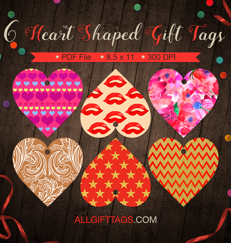 Printable Heart Shaped Gift Tags Get Them In Pdf Format At Http Allgifttags Com Download Heart S Heart Shape Gifts Gift Tag Template Printable Gift Tags Diy