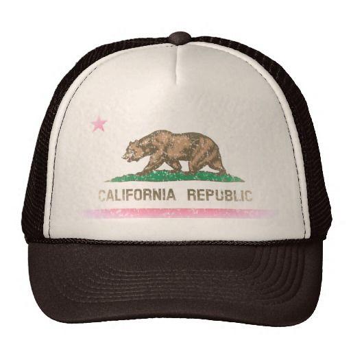Vintage Fade California Republic Flag Trucker Hats http://www.zazzle.com/vintage_fade_california_republic_flag_trucker_hats-148595717018947593?rf=238675983783752015