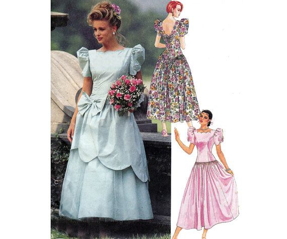 90s Bridesmaids Prom Dress Pattern McCalls by allthepreciousthings ...