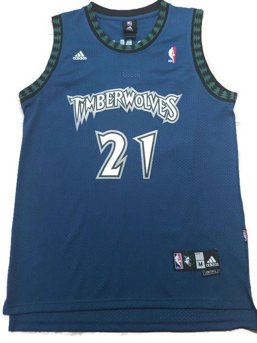 1ca574cf4f1 Reebok Authentic Kevin Garnett Minnesota Timberwolves J;