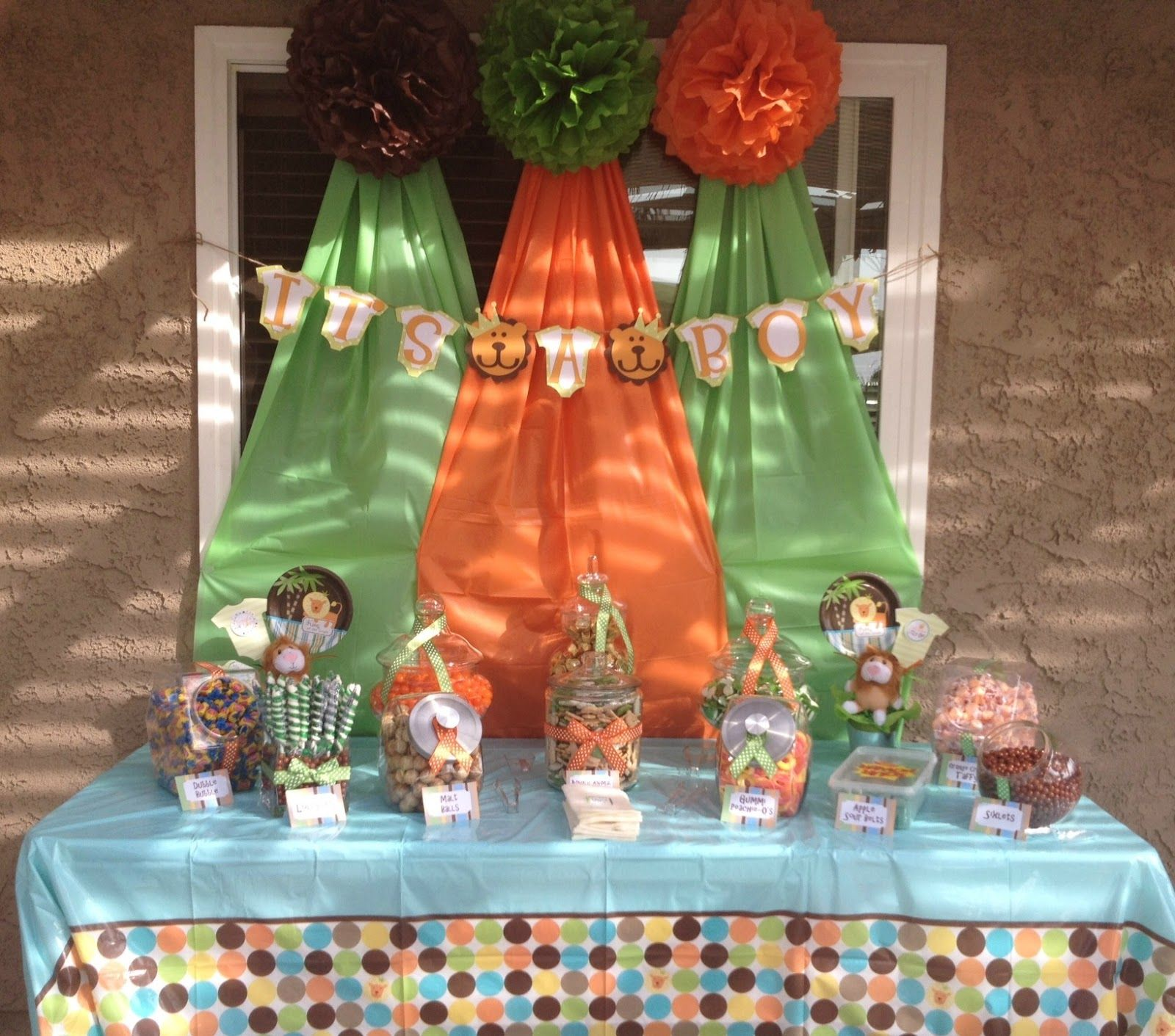 Elegant Baby Shower Ideas | The Simple Life: King of the Jungle Baby Shower