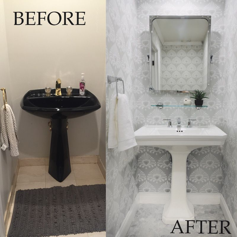 My Powder Room: Before & After