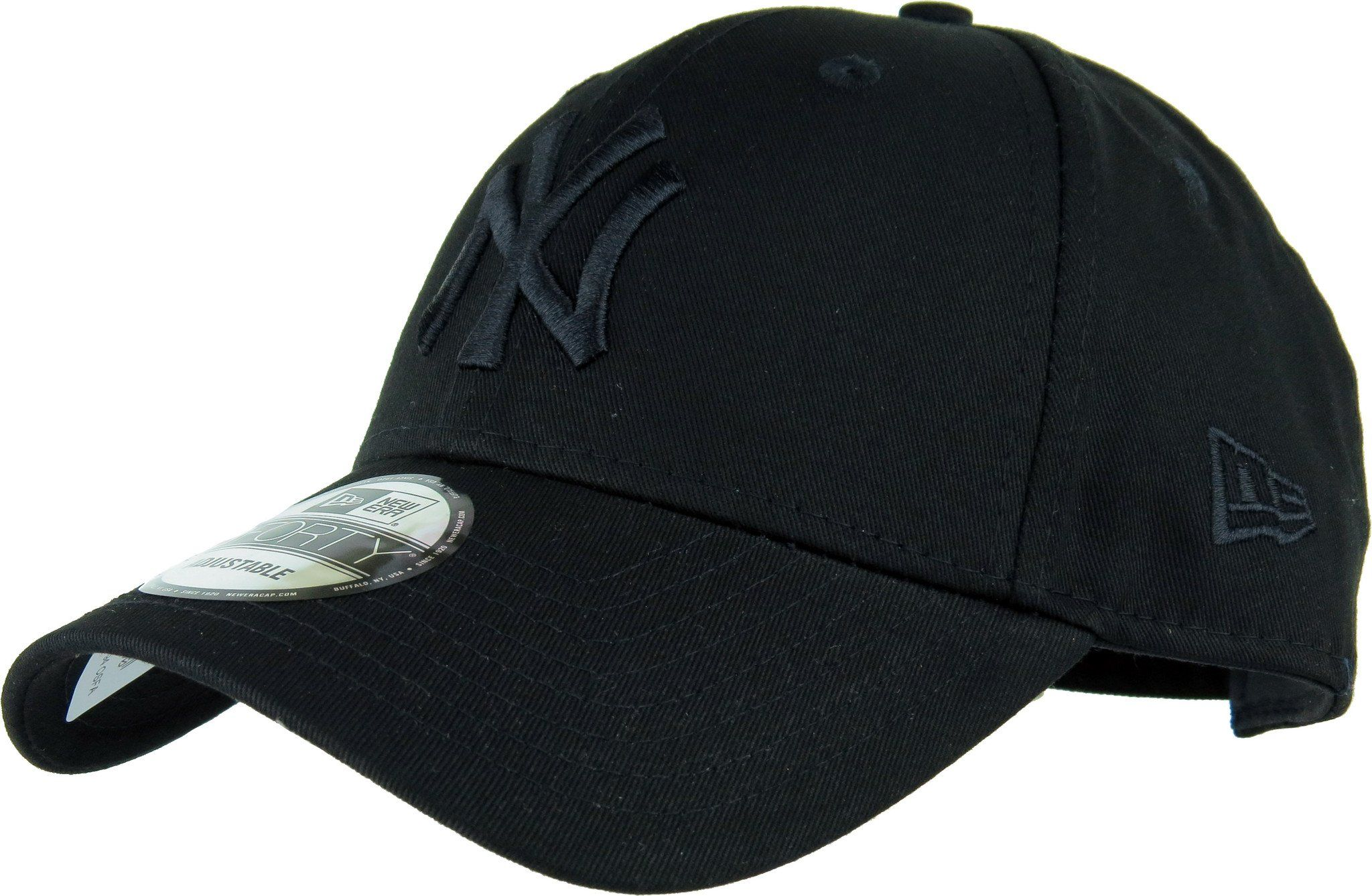 NY Yankees New Era 940 League Essential Baseball Cap - Black Black ... 6264094048e