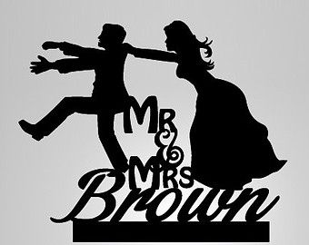 Mr And Mrs Cake Topper Funny Wedding Cake Toppers Funny Wedding Cakes Rustic Wedding Cake Toppers