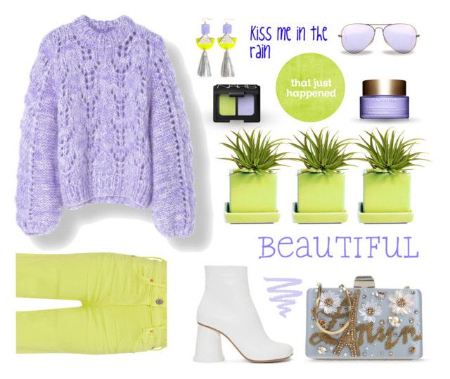 Citron Periwinkle By Neverboring Liked On Polyvore Featuring Citizens Of Humanity Diverse Dot Bo Lanvin Mm6 Maison Margiela Nars Cosme