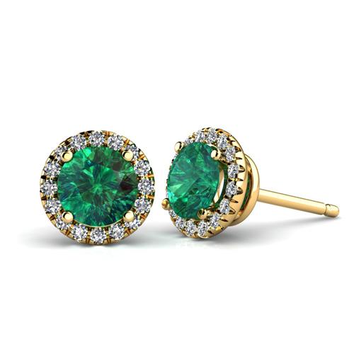 Emerald Vvs1 Fine Diamond Earrings Ebay