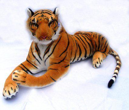 Amazon Com Giant Stuffed Tiger Animal Big Orange Tiger Plush Large